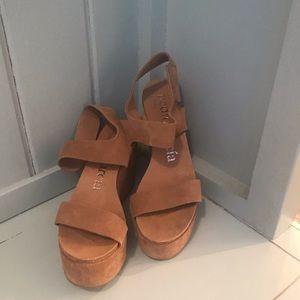 Pedro Garcia suede platform shoes
